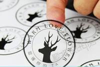 özel çıkartma çıkartmaları toptan satış-Logo Özel Vinil / kağıt Çıkartması Plastik etiket Şeffaf Su Geçirmez Temizle Çok fonksiyonlu Kendinden yapışkanlı Plastik Etiket Etiket Boyutu Özelleştirilmiş