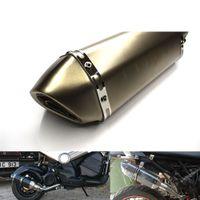 silenciadores de tubos de escape universais venda por atacado-Para Universal Modificado Motocicleta Escape Pipe RACE Escape Da Motocicleta Silenciador para Yamaha YZF R125 R15 R25 R 125 15 25 m-07 mt-09 mt 07