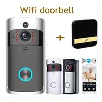 campainha remota venda por atacado-Smart WiFi vídeo de segurança campainha com gravação visual de baixo consumo de energia remoto home monitoramento noite visão vídeo porta telefone