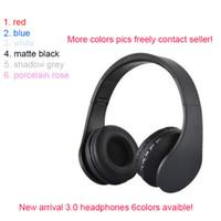 kulaklıklar gürültü iptali toptan satış-2018 marka kablosuz 3.0 kulaklıklar gürültü iptal mühürlü kulaklık bluetooth ücretsiz DHL yeni 6 renkler klipsli
