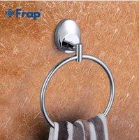 ingrosso anelli di stile moderno-Frap 1 Set Modern Style Anello in acciaio inox Anello per il montaggio a parete Anello per il bagno Accessori per il bagno Porta asciugamani da bagno Hardware F1604