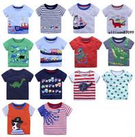 4d6908046f Hotsale Abbigliamento bambini T-shirt Ragazzi Cartoon Tees Unicorno  Abbigliamento per bambini Barca a vela Dinosaur Cars manica corta Cotone  2018 Estate ...
