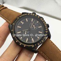 alfiler oscuro al por mayor-Hot Brand Fashion Business Dress automática reloj de hombre de lujo DARK SIDE OF THE Sport reloj de pulsera relojes