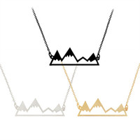 Wholesale girls jewelry online - good friend friendship Collarbone chain necklace for girls Creative mountain hollow out Pendant Necklaces statement Jewelry in stock