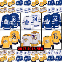 Wholesale Hockey Jersey Toronto - 2018 New 35 Pekka Rinne 76 P.K. Subban 34 Auston Matthews Jersey 16 Mitch Marner Nashville Predators Toronto Maple Leafs Hockey Jerseys