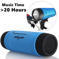 Wholesale outdoor speakers online - S1 Portable Wireless Bluetooth Speakers With Emergency Outdoor FlashLight Powerbank Over Hours Playing Time Zealot Design