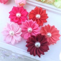 Wholesale artificial pearl flower for sale - DIY Hair Accessories Manual Artificial Flower Pearl Style Hairpin Cute Decorate Simulaton Flowers Red Hot Sale sk Ww