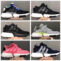 Wholesale red light system - 2018 Light Fashion Old Dad Designer P.O.D SYSTEM POD-S3.1 Boost Sports Running Shoes Mens Women Triple Black Blue Tennis Sneakers 36-45