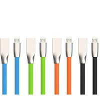 Wholesale kinds cables for sale – best 3D Zinc Alloy metal USB Cable micro usb A Fast Charging Data Sync Cable for smartphone all kinds of cellphones dhl cheapest