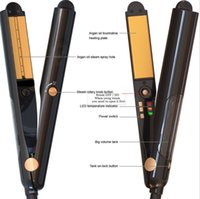 Wholesale tool sonic - Hair Straightener Professional steam styler Curler Flat Iron with Heat Activated Argan Oil Infused sonic Treatment Ceramic Straightening