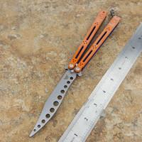 sistem tacı toptan satış-Theone Turuncu Basilisk Trainer Kelebek Bıçak G10 (4.6