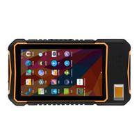 calificación ip65 al por mayor-Clasificación IP65 Computadora móvil Tableta resistente de 7 pulgadas Nuevo Android 7.0 OS Sensor de huellas dactilares Módulo TCS1