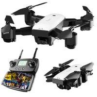 quadcopter modelleri toptan satış-SMRC S20 Gyro Mini GPS RC Drone Ile 110 Derece Geniş Açı Kamera 6 Akslar 2.4G Irtifa Tutun RC Quadcopter Taşınabilir Modeli ABS