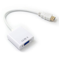 digitaler audio-hdmi-konverter großhandel-HDMI-auf-VGA-Adapter HDMI-Stecker auf VGA Buchse Video Converter 1080P Digital-Analog-Audio für PC Laptop-Tablet-Projektor