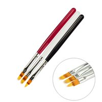 Wholesale cheap art decor - Cheap gel 1 PCS UV Gel Nail Art Painting Pen DIY Beauty Decor Manicure Tools Red Black White Nail Brush CH285