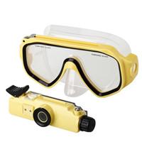 dalış maskesi video kamera toptan satış-8 GB bellek Dahili Spor gözlükleri dalış kameraları sualtı 30 M Su Geçirmez HD 1280 * 720 P eylem DV Kamera Video Dalış Scuba Maske DV20