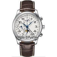 Wholesale moon phase calendar mechanical for sale - Group buy New Master Collection L2 Complex Functions Perpetual Calendar Automatic Moon Phase DayDate Mens Watch Leather Watches a1