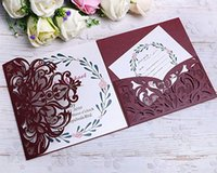 Discount free engagement invitations - 50 PCS Laser Cut 3 Folds Invitation Cards for Wedding Invitations Birthday Engagement Greeting Invitations Cards Use+ Free Envelopes+ Free R
