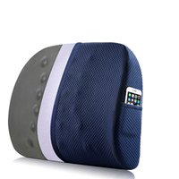 almohada de espuma de memoria de apoyo lumbar al por mayor-Memory Foam Pillow Lumbar Support para silla de oficina Coccyx Seat Cushion ortopédica Waist Massage Bamboo Charcoal Car Back Cojín