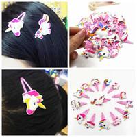 Wholesale random schools for sale - New Glitter Unicorn Hairclips Cartoon Animal Hair clip hair accessories unicorn hairpin school girls kids hair ornaments random