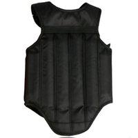 beschützer karate großhandel-Rot Schwarz Brustschutz Taekwondo Sanda Protector Kickboxen Karate Muay Thai Brustschutz Reversible Body Vest Shields Schutz