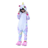 tier hoodie pyjamas groihandel-Kind Tier Sterne Einhorn Pyjamas Für Jungen Mädchen Kinder Flanell Cartoon Cosplay Kinder Nachtwäsche Niedlichen Hoodie Pijamas Halloween Y18102908
