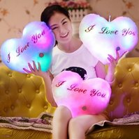 Wholesale Love Doll Sizes - NEW Color LED flash toy plush toy love plush toy size 36cm lighting music presents valentine's day gift.