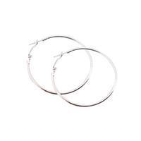 Wholesale Large Metal Circle - PIXNOR 4CM 6CM 8CM 10CM Diameter Metal Smooth Hoop Earrings Big Large Round Circle Brincos Fashion Jewelry for Women Men
