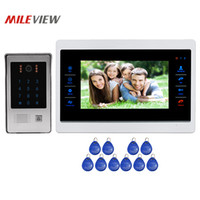 Wholesale touch screen alarm systems for sale - Group buy Alarm Input TVL Screen Video Door Phone Intercom Unlock Record System Touch Code Keypad RFID Doorbell Camera