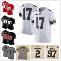 Wholesale custom black football jerseys - Custom 2018 Ohio State Buckeyes White Gray Black Camo Jersey Haskins Jr. George Dobbins Red OSU College Football Stitched Any Number Name