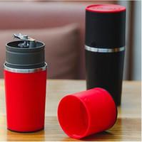 kahve espresso üreticileri toptan satış-Manuel Kahve Makinesi El Basıncı Taşınabilir Espresso Makinesi Kahve Presleme Şişe Pot Kahve Aracı Açık Seyahat için KKA3973