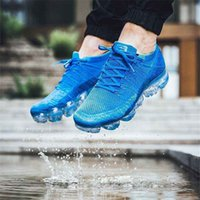 Wholesale rainbow shoes sale - HOT SALE WITH BOX 2018 New Vapormax Rainbow BE TRUE Gold Women Men Designer Running Shoes Sneakers