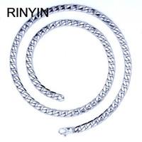 12mm länge großhandel-6/8 / 12mm Anpassen Länge Herren Hohe Qualität Edelstahl Halskette Curb Cuban Link Kette Mode Jewerly