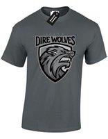 neve do jon camiseta venda por atacado-STARK DIREWOLVES BADGE MENS CAMISA JOGO DE SNOW THRONES JON TYRION TOP S - 5XL