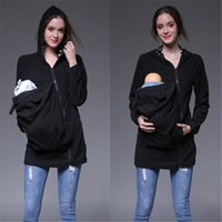 Wholesale baby carrier clothing for sale - Group buy Belva New Maternity Hoodie Winter Cotton Baby Carriers Cardigan Rabbit Hat Long Hoodies Clothing for PreWomen