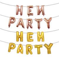 balões da folha da letra do ouro venda por atacado-Moda Partido Galinha Folha De Alumínio Balão Carta Inglês Inflável Hélio Balões Para Festa de Casamento Decoração Airballoon Rose Gold 4 5 hb BB