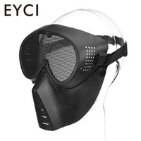 Wholesale chicken masks resale online - M04 Gas Mask Field Equipment Head Mounted Mask Eat Chicken Green Mud Color TPU Cs