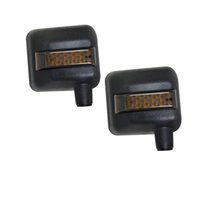 Wholesale turn signal rear view mirror - Rear View Mirror Cover With LED DRLs And Signal Turning For Jeep Wrangler