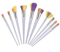 Wholesale Brush Styles - SAMPLE 1SET IN STOCK! New Makeup Brush Set Foundation Brush Eyeshadow Brush kit 10pcs set 3 Style Free Ship