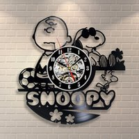 Wholesale Character Wall Clocks - Snoopy Vinyl Record Wall Clock Vinyl Creative Vintage Handmade Home Decorating Wall Clock Kids Character Decoration