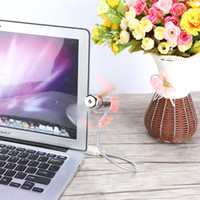 display led flexível venda por atacado-Luz LED flexíveis Fãs USB programável Message Display Fan USB Mini RGB para PC Notebook laptop frete grátis