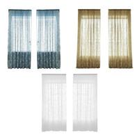 sala de cortinas pretas venda por atacado-A cortina da janela do bordado de Pteris do poliéster seleciona a decoração de vidro da sala do fio