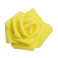 Wholesale White Craft Foam - 100PCS Foam Rose Flower Bud Wedding Party Decorations Artificial Flower Diy Craft Yellow