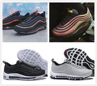 Wholesale canvas shoes crystals - New Mens 97 Running Shoes Skepta Sk London Bronze Vivid Sulfur-Black 97s LX Crystal Black Silver Bullet Women Sport Sneakers Jogging Shoe