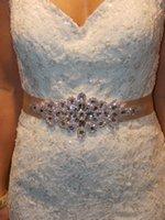ceinture de mariage en strass chaude achat en gros de-2018 vente chaude strass robe ceintures accessoires de mariage perlé mariée Sash Crystal Appliques livraison gratuite brillant moderne Sash Sash