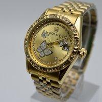 Wholesale fashion flower pins - Women's Watches Fashion Flowers Bracelet Watch Women Watches Luxury Crystal Ladies Watch Clock relogio feminino reloj mujer saat