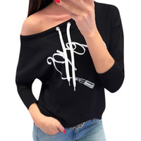 jersey inverno al por mayor-Mujeres de Impresión Casual Manga Larga Pullover Blusa Camisa Sudadera Casaco Feminino Inverno Polerones Mujer 2018 Sudadera Mujer 5