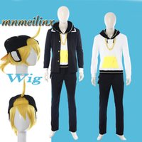 Wholesale Vocaloid Hatsune Miku Vocaloid Kagamine Len Rin Cosplay Costume Full Set Custom Made Unisex For Halloween