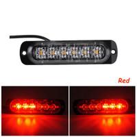 luces de advertencia de peligro llevadas al por mayor-2X Luces estroboscópicas LED ultradelgadas Coche Camión Motocicleta 6 LED 18W Ámbar intermitente Lámpara de advertencia de peligro de emergencia DC12V 24V