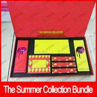 sombra de verão venda por atacado-2018 Nova Maquiagem Set Edição Limitada A Coleção de Verão Pacote de Cosméticos Lip Gloss Lipstick + Lipliner 14 cor da sombra